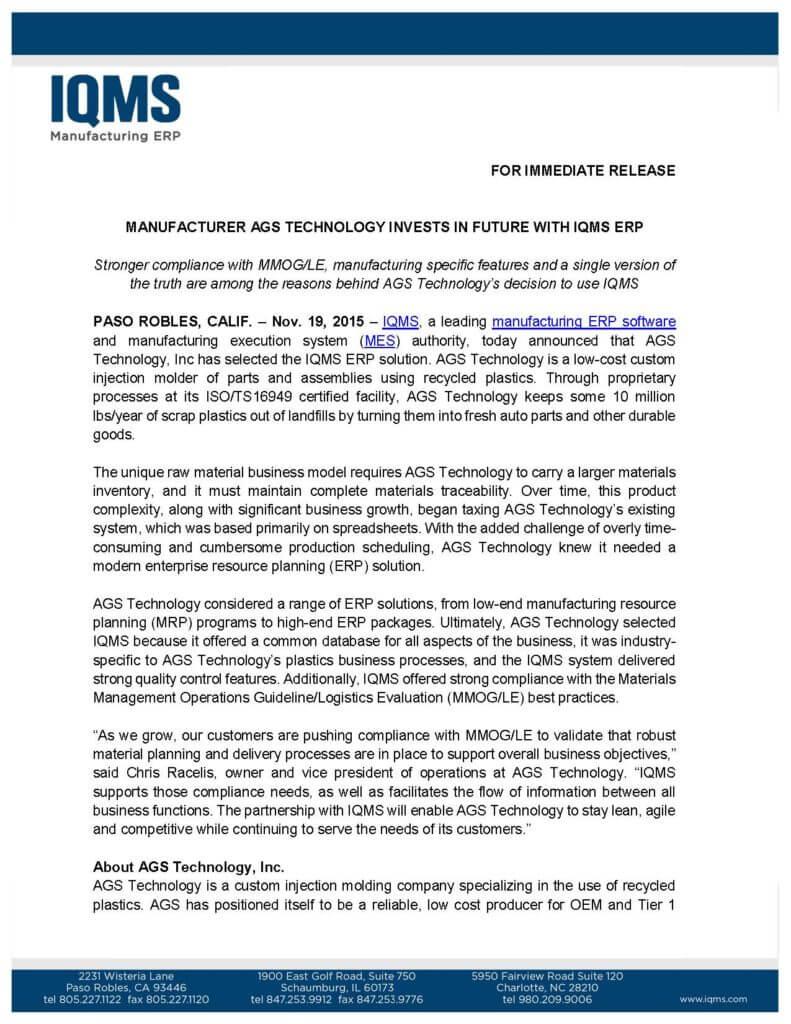 IQMS Press Release-1