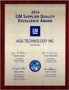 General Motors  2014 Supplier Quality Award